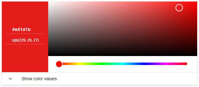 Color Picker Google Easteregg Screenshot