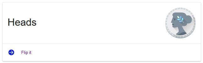Flip a Coin Google Easter Egg Screenshot