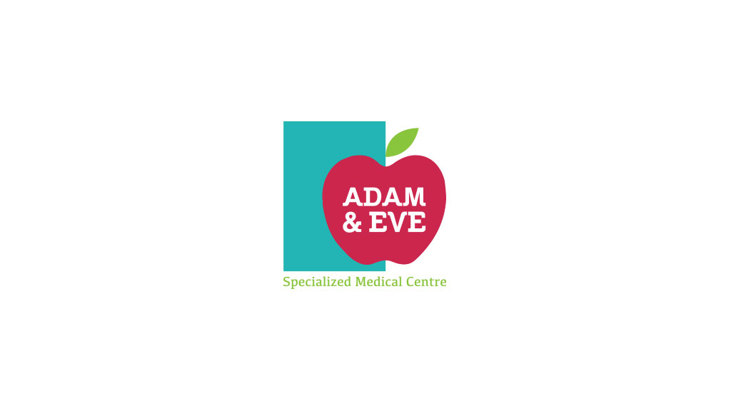 Adam n Eve medical hospital Dubai Logo Design