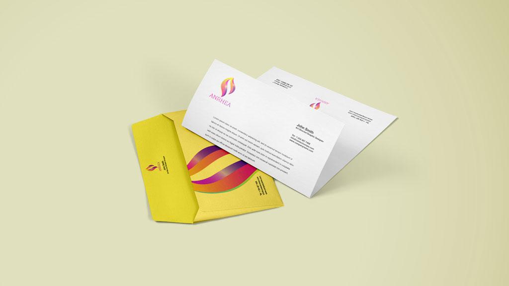Anrhea Creations Bangalore Letterhead Design