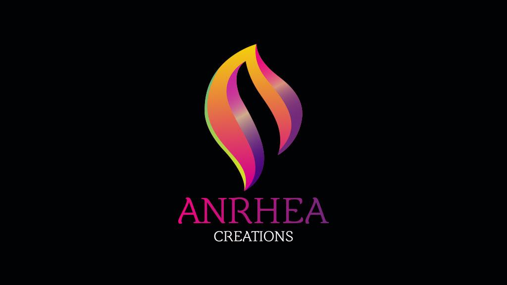 Anrhea Creations Bangalore Logo Design in Black Background