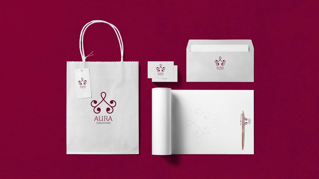 Aura Creations Kerala Branding Design
