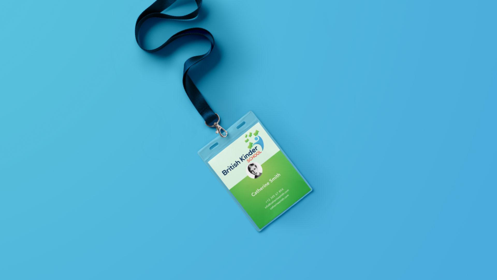 British Kinder School ID Card Design Branding