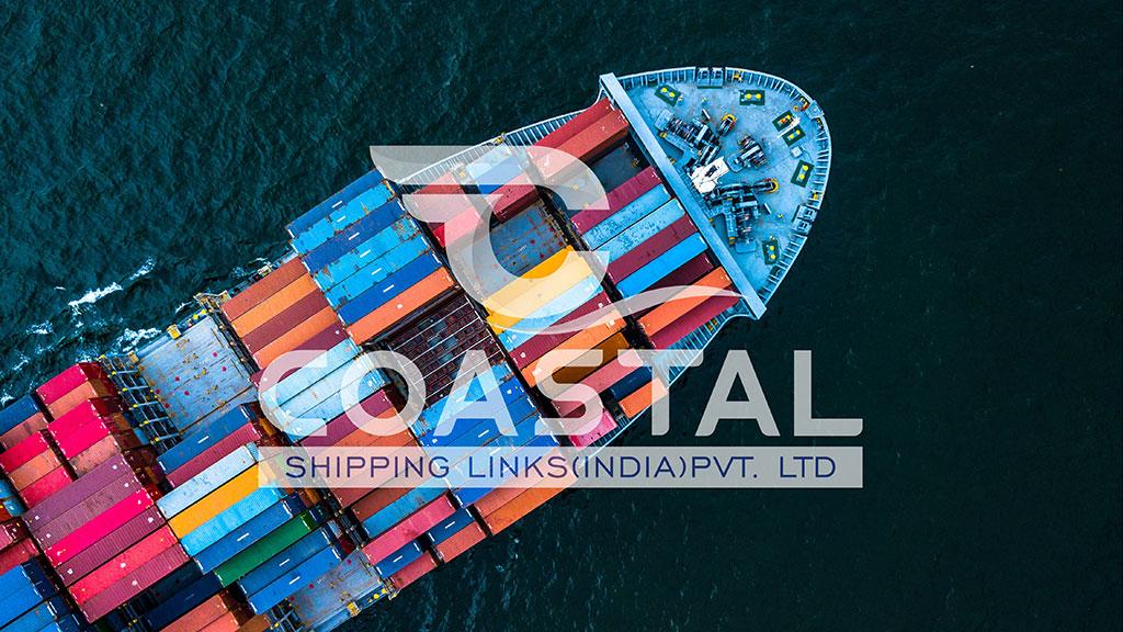 Coastal Shipping Links India Logo Wallpaper Design