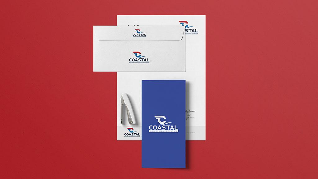 Coastal Shipping Links Kochi Logo Design