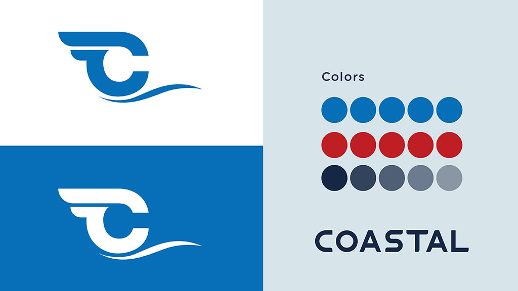 Coastal Shipping Links Logo Colors