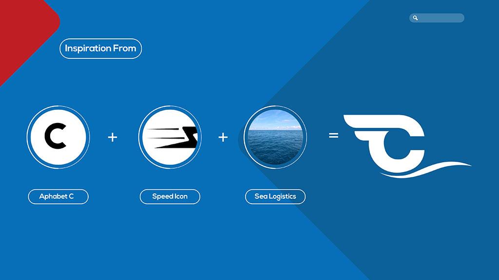 Coastal Shipping Links Logo Inspiration