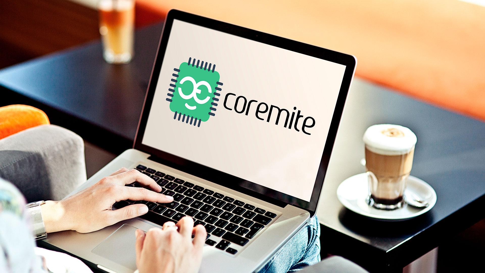 Coremite India Electronics Startup Company Logo Design Presentation