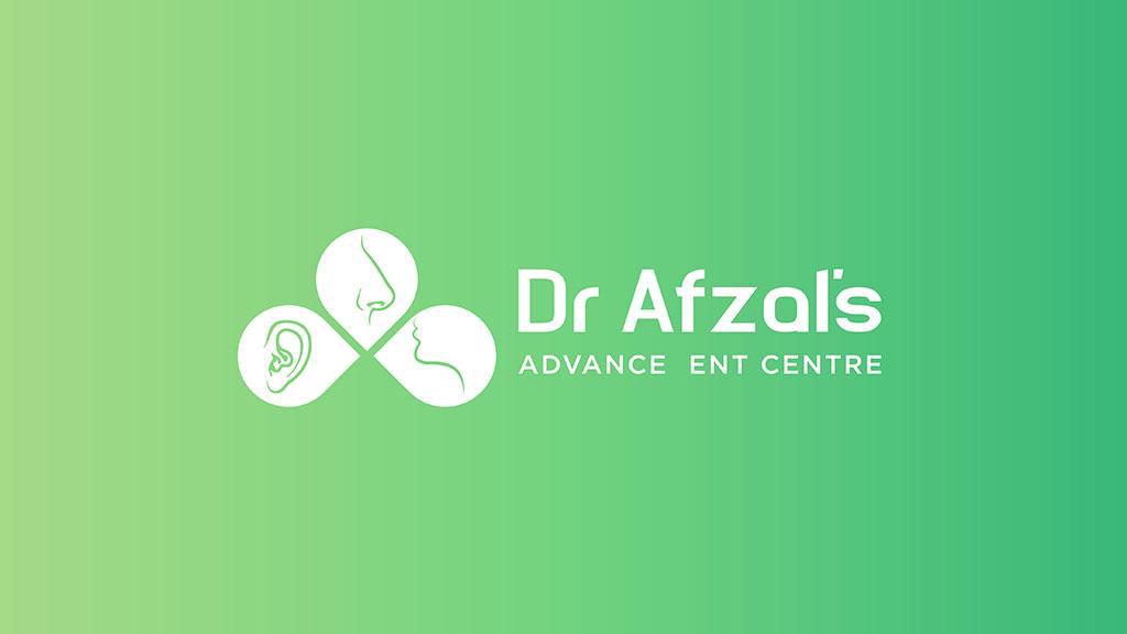 Dr Afzal ENT Care Hospital Logo Design India