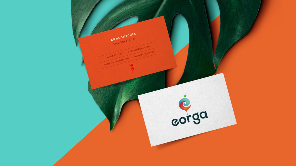 Eorga Organic Foods Visiting Card Design Presentation