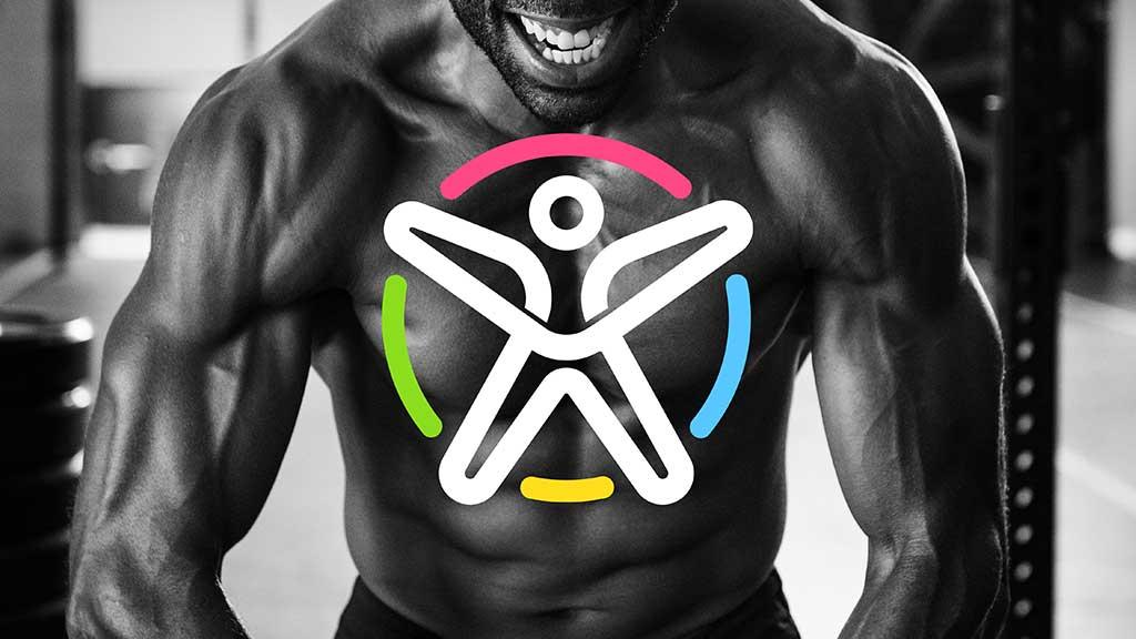 Fourset Fitness Logo on GYM Body Build Man