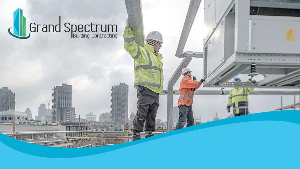 Grand Spectrum Building Contracting Dubai Company Logo Presentation
