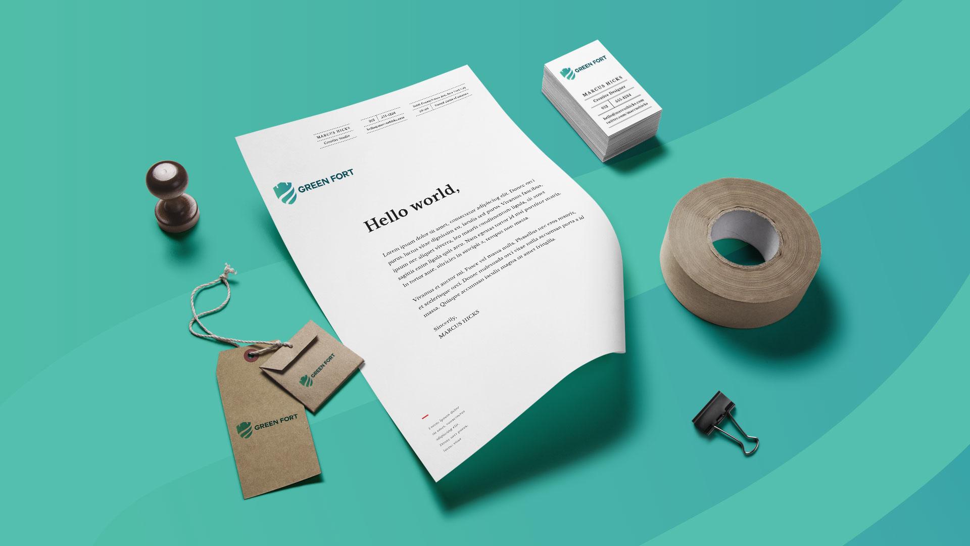 Green Fort Saudi Arabia Company Branding Design