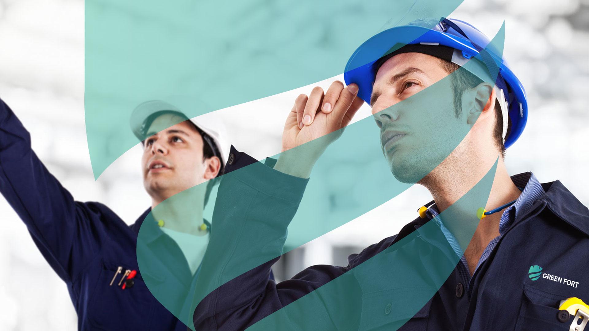 Green Fort Saudi Arabia Company Logo Design Presentation