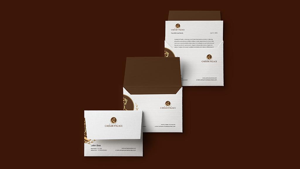 Hotel Caesar Palace Envelope Letterhead Branding Designs