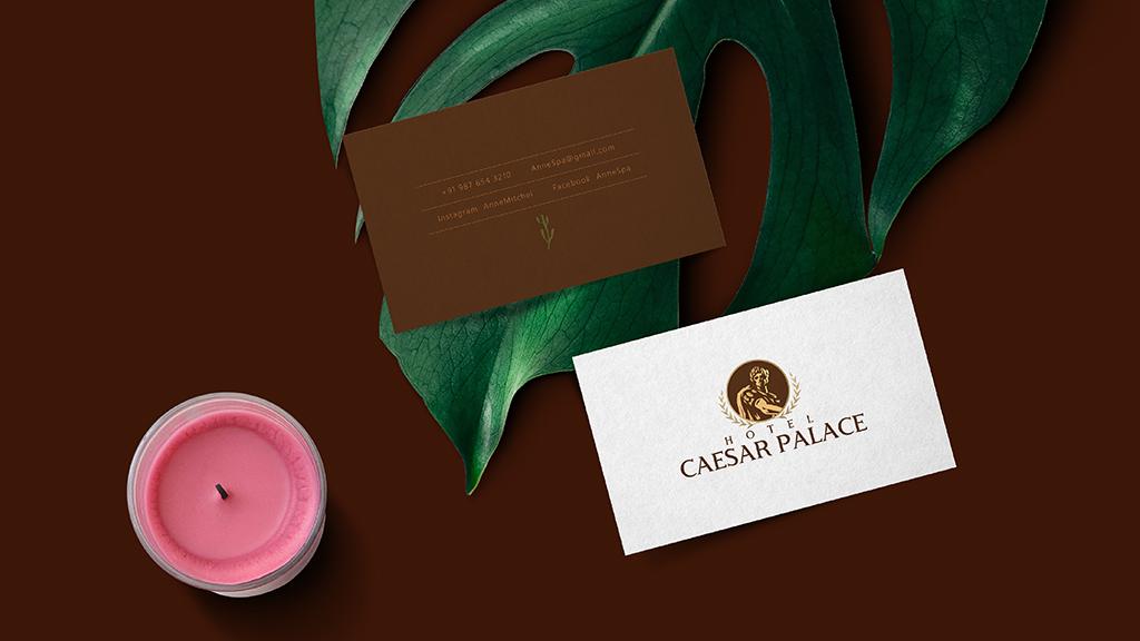 Hotel Caesar Palace India Visiting Card Design