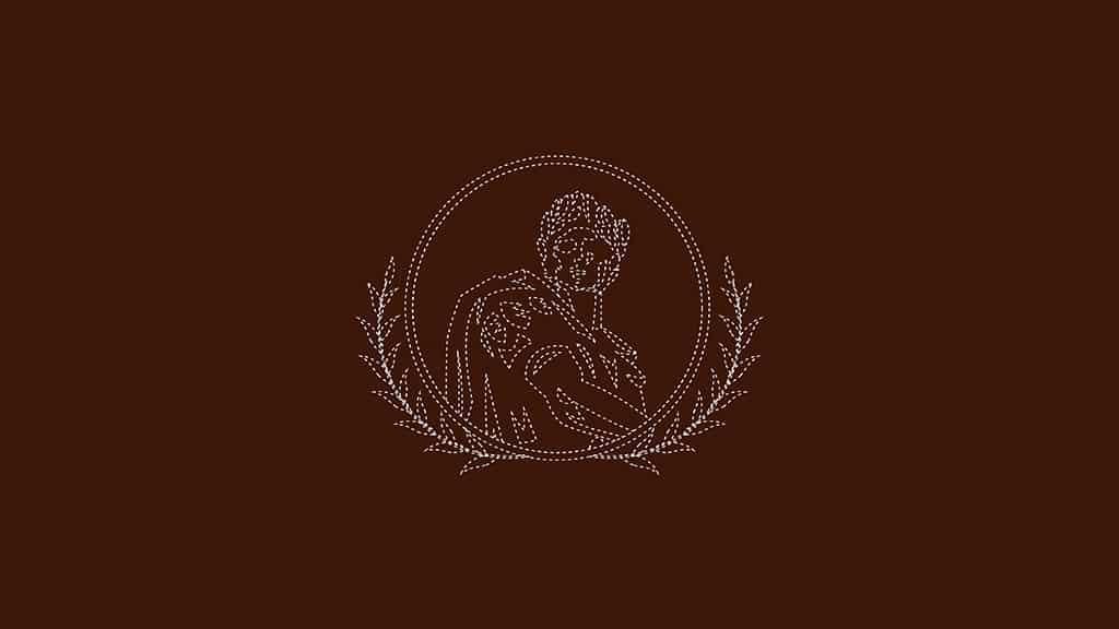 Hotel Caesar Palace Kerala Logo Outlined Design