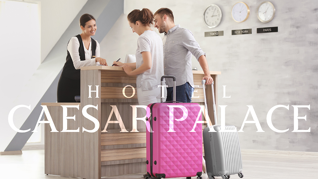 Hotel Caesar Palace Reception Branding Design