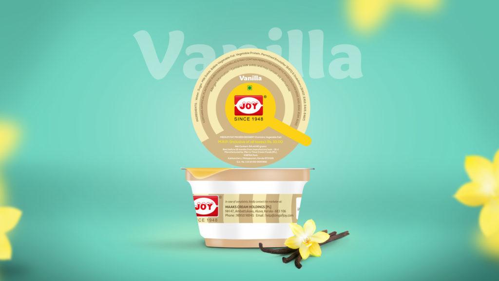 Joy Ice Cream Vanilla Package Design ZeroBulb
