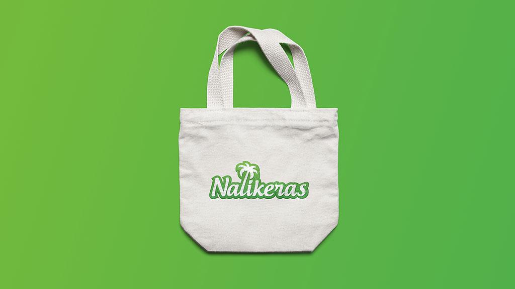Nalikeras Coconut Oil Logo in Cloth Bag Design