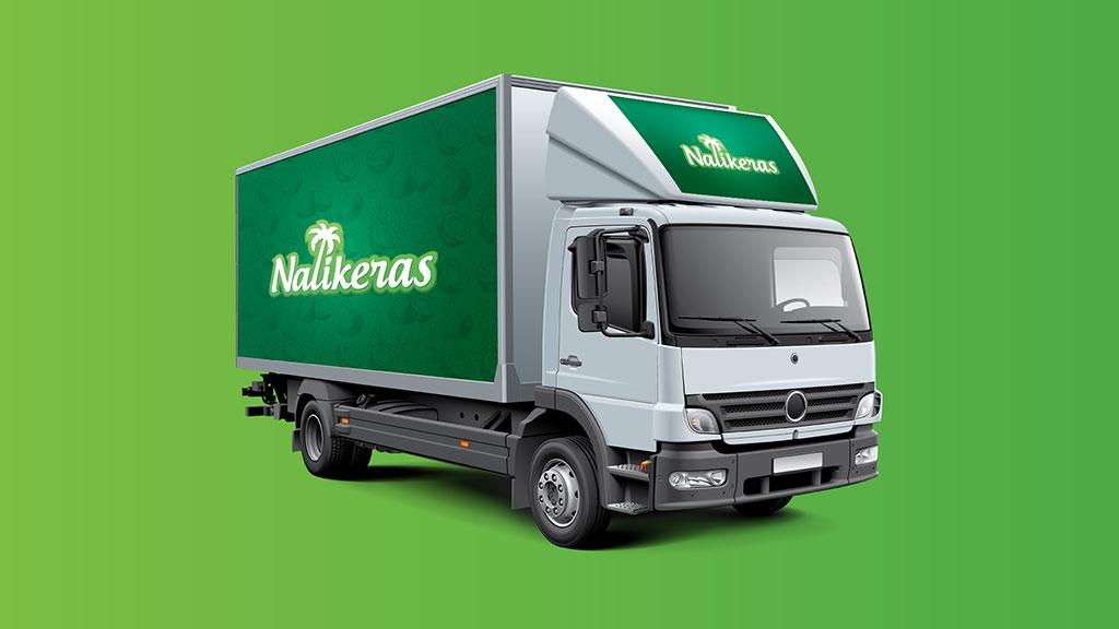 Nalikeras Virgin Coconut Oil Logo in Vehicle Design
