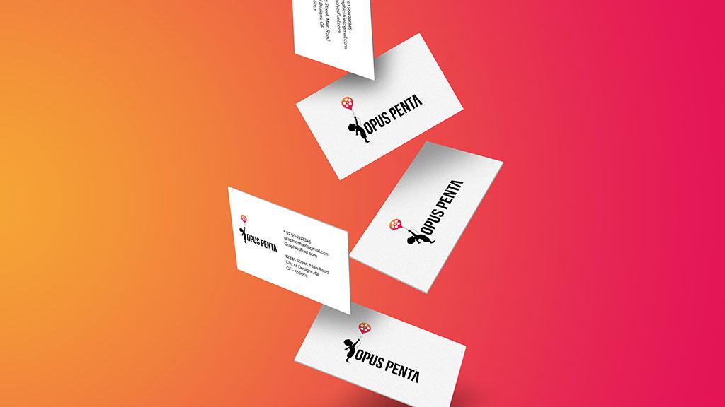 Opus Penta Visiting Card Design Presentation