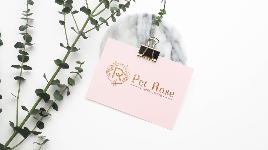 Pet Rose Events Centre Branding design by ZeroBulb