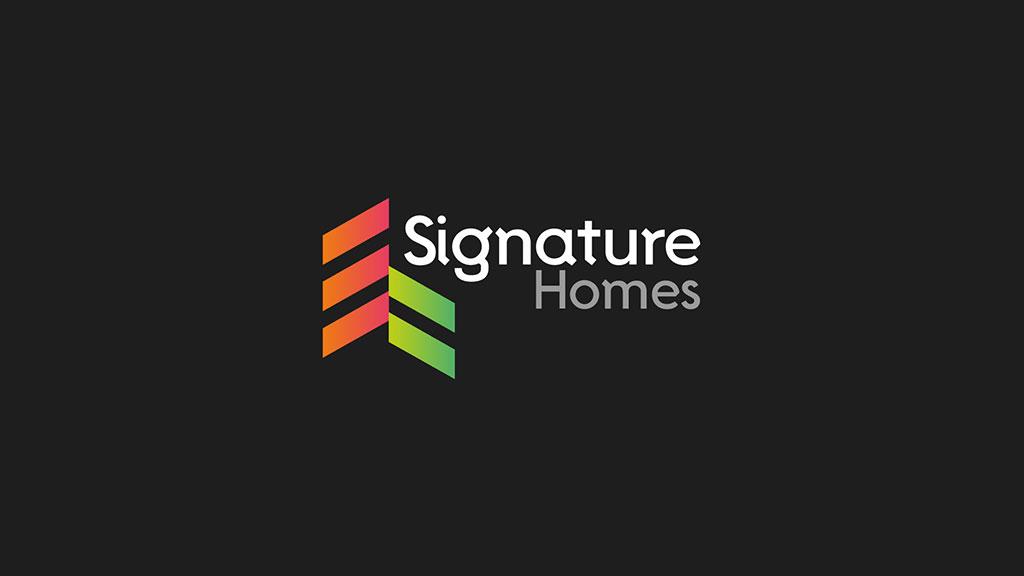 Signature Homes Logo Design Presentation ZeroBulb
