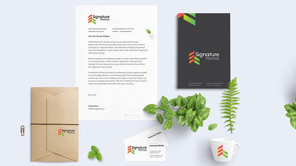 Signature Homes Logo Design Presentation by ZeroBulb