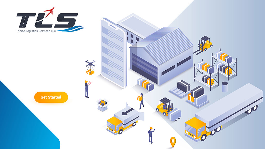 Thoiba Logistics Company Dubai Logo Branding