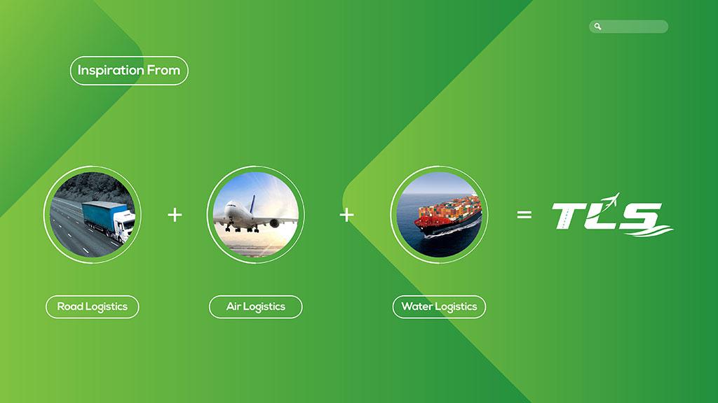 Thoiba Logistics Dubai Logo Concept