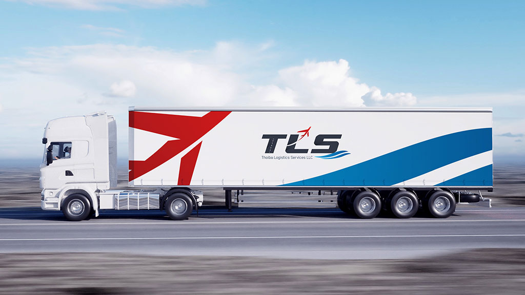 Thoiba Logistics Services Dubai Branding on Truck