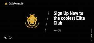 the playpreneurs club uae website landing page