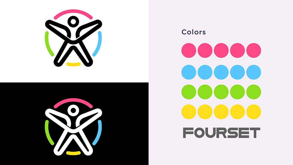 Fourset Fitness GYM Logo Design Colors