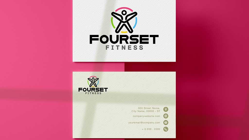 Fourset Fitness GYM Logo Design ZeroBulb Abu Dhabi