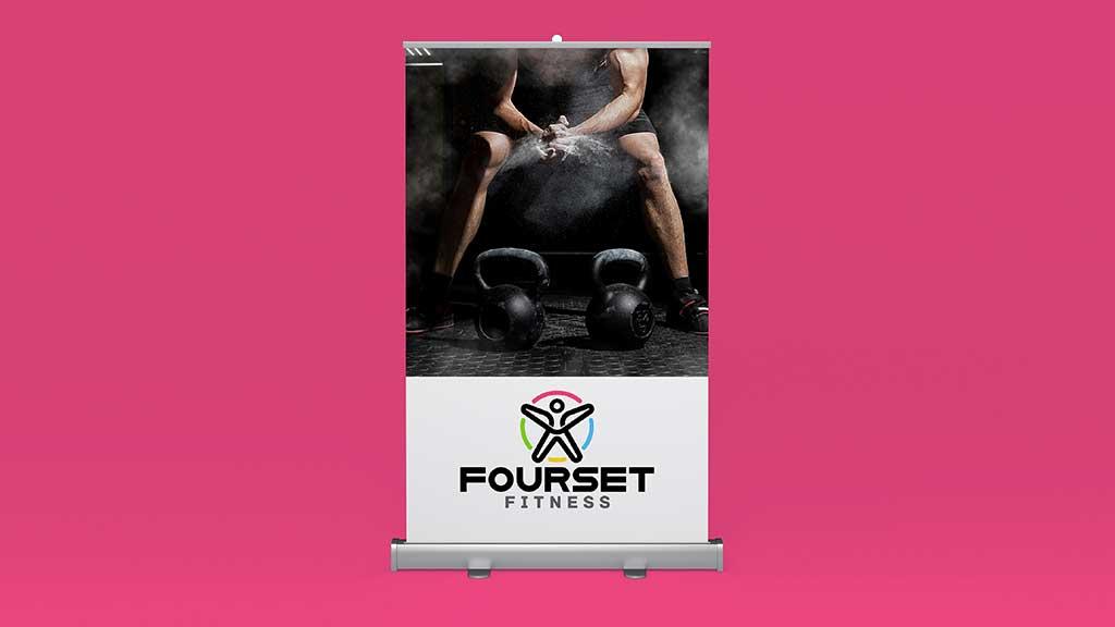 Fourset Fitness GYM Logo Design by ZeroBulb Kerala