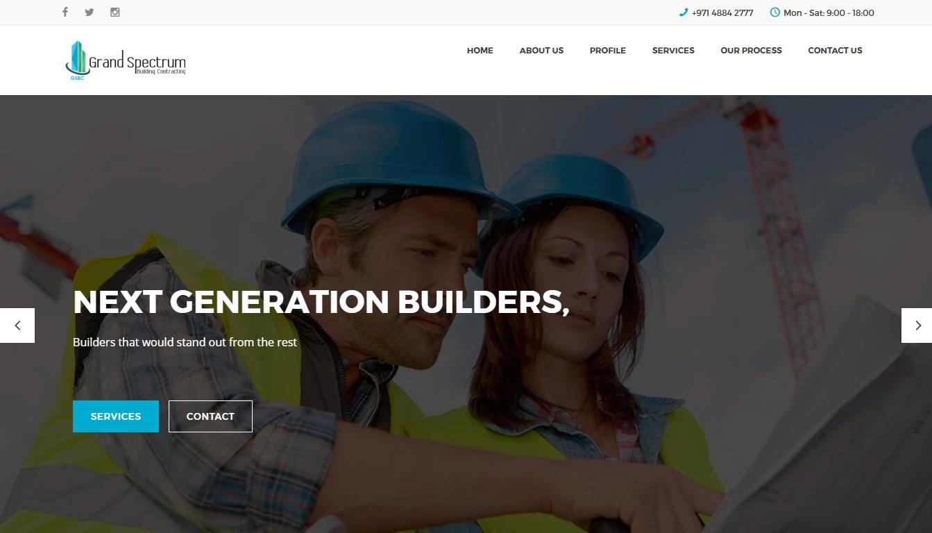 GSBC Dubai UAE Website Screenshot Portfolio
