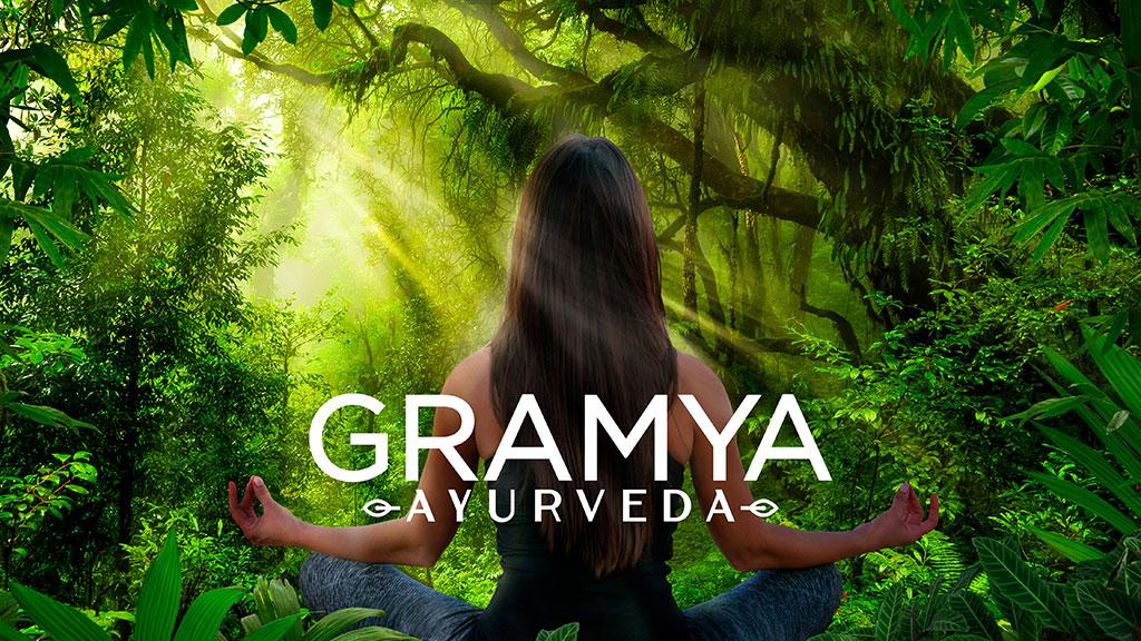 Gramya Ayurveda Hospital Kerala Logo Design ZeroBulb