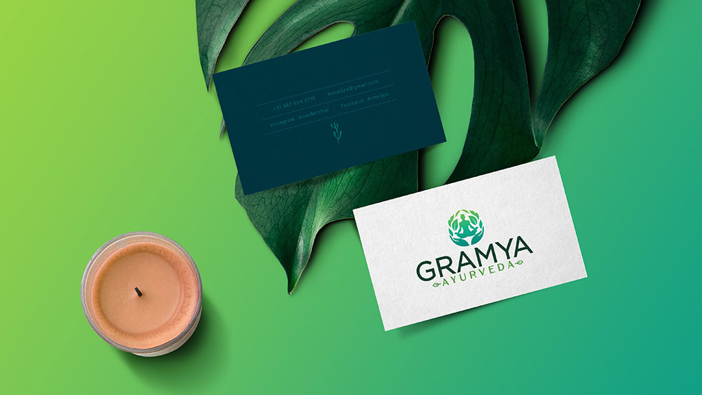 Gramya Ayurveda Hospital Professional Logo Design Kerala