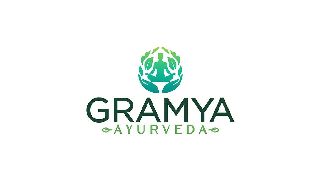 Gramya Ayurveda Kerala Hospital Logo Design