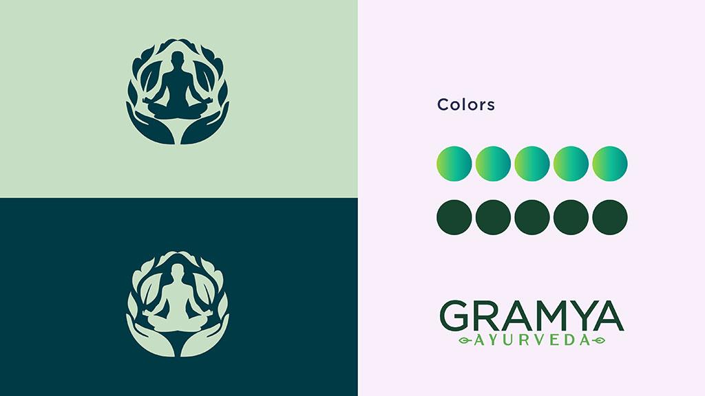 Gramya Ayurveda Kerala Logo Color Pallete Design