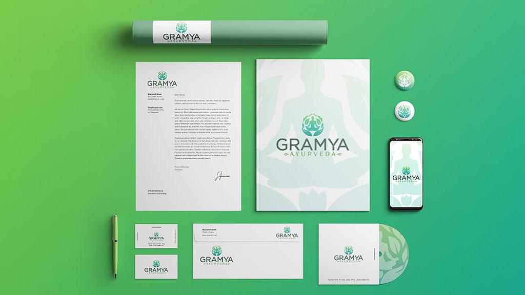 Gramya Ayurveda Kerala Professional Branding Design
