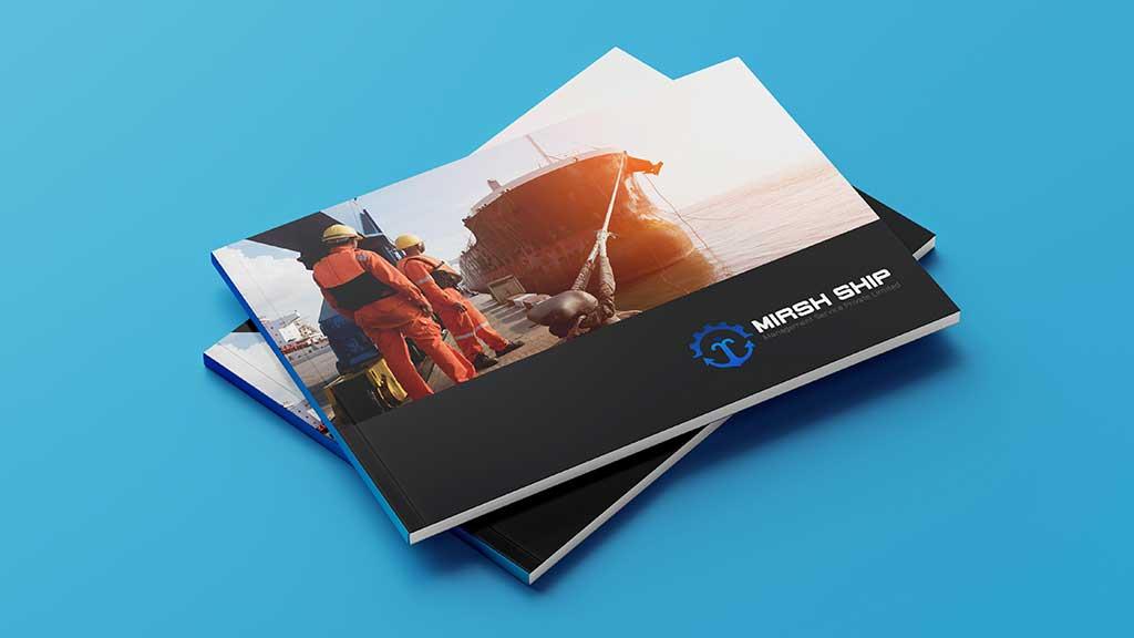 Mirsh Ship Management Services Company Branding Design Presentation