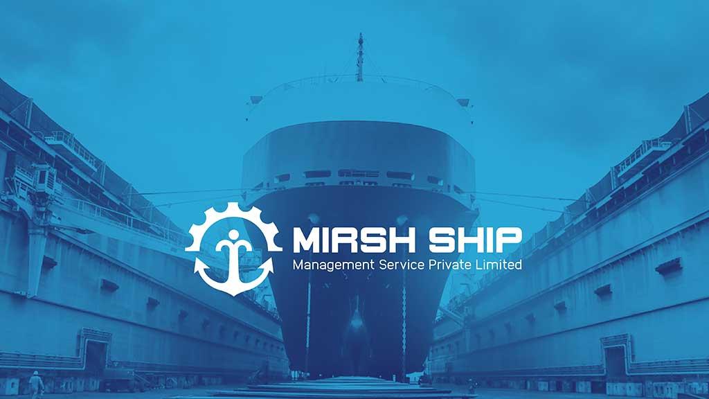 Mirsh Ship Management Services India Logo Design Presentation