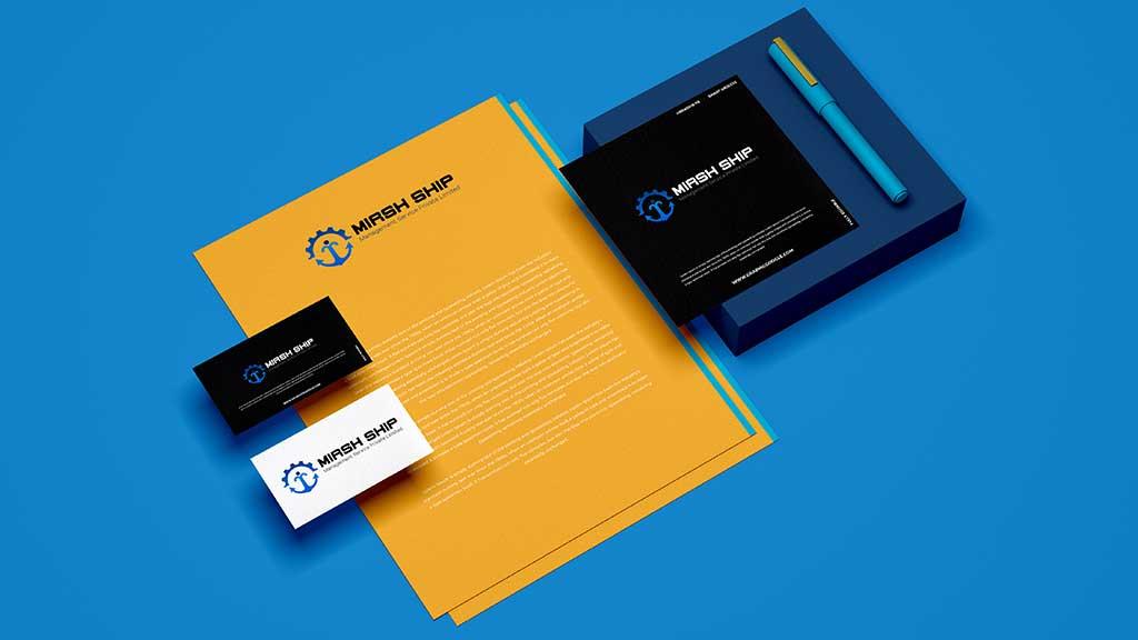 Mirsh Ship Management Services Logo Design Presentation
