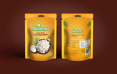 Nalikeras Coconut Chips Package Design